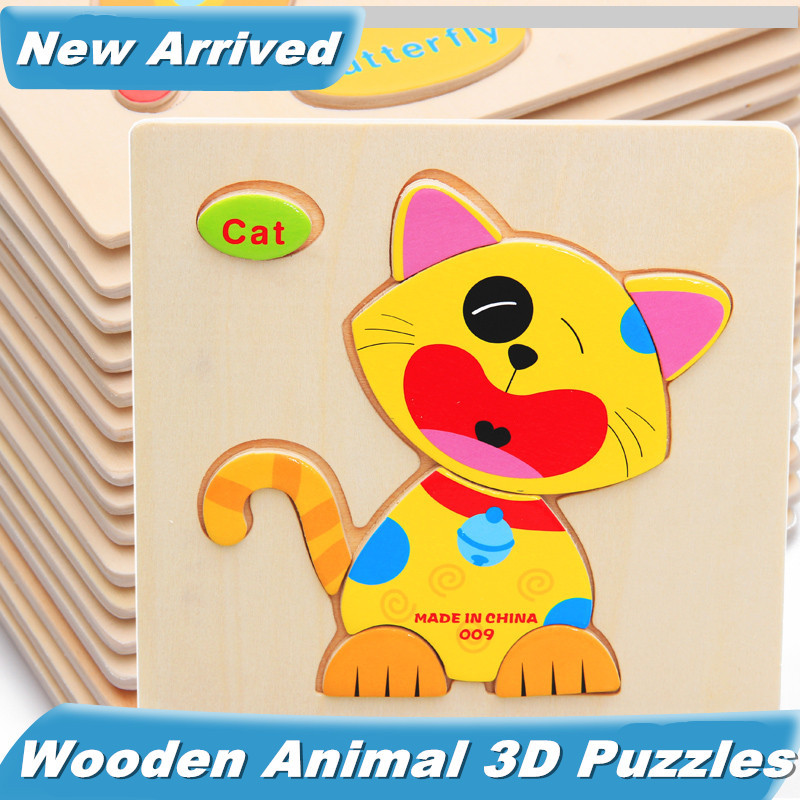 3d Wooden Animal Puzzles Animals 3d Puzzle Wooden