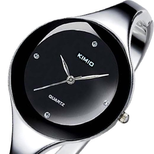 KIMIO Brand Stainless steel Jewelry Bangle Bracelet Women Ladies Diamond Hour marks Dress Wrist Watches(China (Mainland))