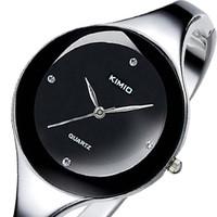 KIMIO Brand Stainless steel Jewelry Bangle Bracelet Women Ladies Diamond Hour marks Dress Wrist Watches