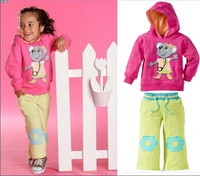 clothing sets new 2013 baby girls boys kids clothes set autumn -summer baby polo clothes girl's hoodies+pant clothing sets