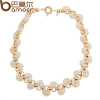 2014 New Arrival Luxury 18k Rose Gold Necklace Champagne Wire Zircon Crystal Necklace Female Fashion Jewelry JSN046