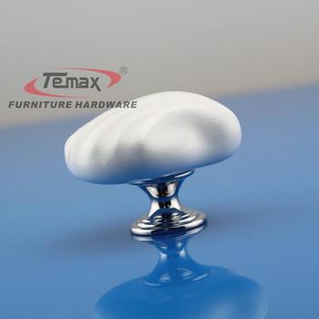 2pcs Ceramic Kitchen Cabinet Knobs White Seashell Kids Furniture Bedroom Dresser Drawer Pulls