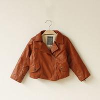 Children's clothing for boys and girls sherpa jacket motorcycle models within Lippi leather jacket C0913-2
