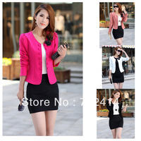 High quality 2014 Fashion Women's blazer Tunic Foldable Brand Jacket women plus size clothes suit blazer shawl cardigan jackets