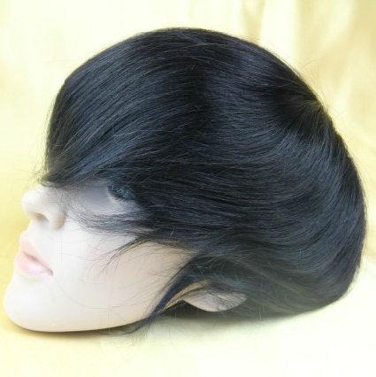 Free shipping Real hair straight top closure brazilian hair toupee 6x8 hair pieces Bottom Network 3#(MONO)(China (Mainland))