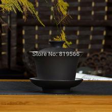 hot sale purple clay Glaze gaiwan 125ml chinese yixing ceramic kung fu tea set zisha cups