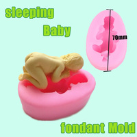 10pcs/lot 3D sleeping baby mold chocolate Cookware silicone cake decorating fondant mold tool Baby Shape Soap Mold