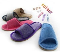 2013 new flax home slipper, summer slippers indoor Linen shoes