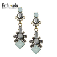 Artilady  christmas noble crystal drop earrings  fashion 2013 vintage  women earring jewelry