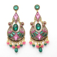 Sexy Supernova Sale for Women Fashion Charm  Luxury Luxury  Bohemian Big CC Crystal Earrings  Free Shipping