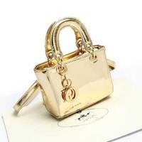 Elegant leather Gold Silver designer children bag Retro Mini Handbag ladies shoulder bags fashion mirror bag  women wallets d