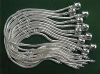 charm bracelet 10pcs/lot Fashion Snake Chain Bracelets,stering Silver plated Bracelets Jewelry,8 INCH for pan Jewelry