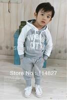 New style baby boy's/girl's Sports Set 2pcs sport clothing set baby wear Kids Suit,(1 set/lot)