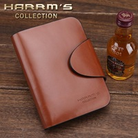 free shipping 2013 cowhide wallet horizontal hasp genuine leather purse wallet male wallet