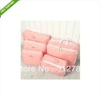 5pcs/Set Portable Nylon Travel Luggage Clothes Underwear Organizer Storage Bag