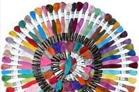"Cross stitch thread High quality 50pcs DIY ""DMC color  cross stitch Cotton Embroidery Thread Floss Free shipping"