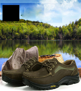 Free shipping 2013Spring/ Autumn Hot sale Genuine leather leisure men's shoes Business outdoor sports Hiking LL344