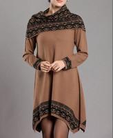Winter New Korean Women's long sweaters cashmere sweater dress irregular loose large size women Christmas gifts
