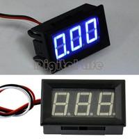 10pcs/lot New Fashion blue LED Voltage Panel Meter Mini Digital Voltmeter DC 0V To 30V TK0601