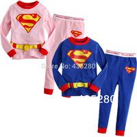 Free Shipping New 2014 Boys Girls Long Sleeve Christmas Pajamas Baby Toddler Kids Sleepwear Pajamas Fashion Design 2-7 yrs