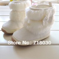 Autumn winter 2014 Hot baby shoes kids Warm snow boots baby Rubber bottom prewalker first walkers Cotton-padded shoes for girls