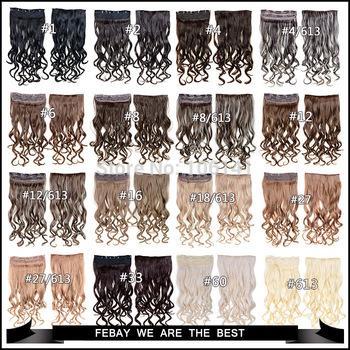 High Temperature Fiber Hair Extension Clip 24inch 120g/pcs Clip in Hair Extensions curly 5 Clips In On Hair body wave hair piece