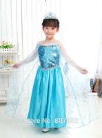 Free shipping Wholesale Frozen Elsa dresses, Princess Elsa Frozen costumes dresses for girl GP82