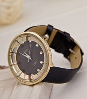 2013 new luxury watch for women PU leather quartz watch Rhinestone dress Wristwatches HOT sale Top grade 6 colors
