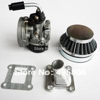 2 stroke pocket bike 19mm carburetor set [ carb & air filter] for  kids mini bike ATV  with 47cc 49cc engine