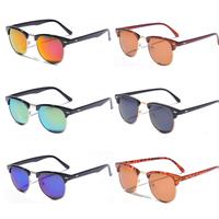 Drop Shopping New 2014 Clubmaster Coating Sunglasses Men Oculos Sun Glasses Half Frame Metal Arm Vintage Women Unisex
