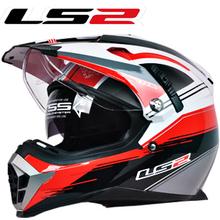 New LS2 motorcycle helmet MX455 dual lens professional off-road dirt bike helmet full face helmet  safety adjustable airbags(China (Mainland))