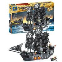 Kazi Building Blocks Hot Toy Pirate Ship The Black Pearl Construction Sets Educational Bricks Toy for Boy Compatible Blocks