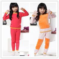 Hot  Winter ! 2013 new girls velvet homewear/pajamas suit, super keep Warm Children double flannel clothing sets(110-160cm)