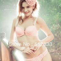 Free Shipping Sweet Comfortable Bamboo  Decoration Young Girl Bra Set Women Underwear Set wholesale/retail