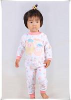 Child baby sleepwear suits,toddler cartoon pajama Retail Childrens cotton long sleeve pajamas sets Beautiful112