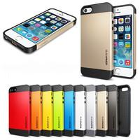 SLIM ARMOR SPIGEN SGP Case For Apple iPhone 5 5S Hard Back Cover Luxury TPU Plastic Cases For iPhone4G 4s i Phone 5 Wholesale