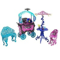 MONSTER HIGH  Original Dolls,Part Of  Monster,Scaris City Of Frights Cafe cart ,toys for girls