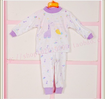 Child baby sleepwear suits,toddler cartoon pajama Retail Childrens cotton long sleeve pajamas sets 117