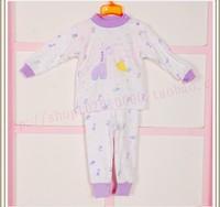 Child baby sleepwear suits,toddler cartoon pajama Retail Childrens cotton long sleeve pajamas sets 117