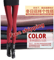 Free shipping new 2013 autumn and winter female leggings plus size thickening plus velvet candy color boot jeans drop shipping