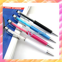 100pcs 2013 New Mutlti Function Metal Touch Pen Ink,Color Diamond Crystal Touch Stylus Pen For iPad iPhone 3GS 4G iPod Kindl 4G