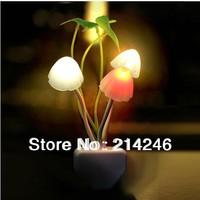 HOT Energy saving Light Freeshipping  electric induction dream mushroom Fungus Lamp,LED table lamp, mushroom lamp,