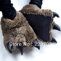 Bear's paw animal Winter Indoor slippers shoes new 2013 women slippers for men flats home shoes novelty households warm