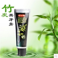 Free Shipping Black Bamboo Charcoal Toothpaste 60g Teeth Whitening Brightening Fresh Bleeding Gums Teeth Stains