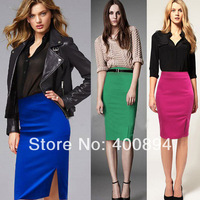 WHOLESALE   Womens Slit Fitted Business Bodycon Short Career High Waist Pencil Skirt