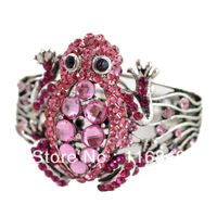 Fashion animal bangles and bracelets colorful frog bangles