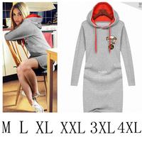 Women's Top 2014 Spring Plus Size Letter Hoodies Sweatshirt Pullovers Casual Women Embroidery Sportswear