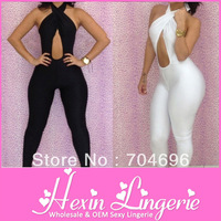 2013 Newest! Sexy Clubwear, Women's Party Evening Bandage Bodysuit, Sexy Jumpsuit For Ladies B5070