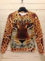 New Fashion 2014 Women/Men tiger Pullovers 3d sweatshirts palm/pug animal print space galaxy sweaters Hoodies top