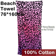 Large bath towel Cotton Beach Towel Beautician toalha Pink Leopard print for adults Terry Towel novelty households 8100(China (Mainland))
